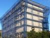 Andamios para la reforma de fachada de edificio en Bilbao