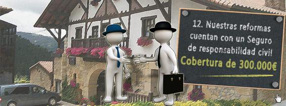 Nuestras reformas cuentan con un seguro de responsabilidad civil de 600.000€ - Reformas Unai Ordoñez
