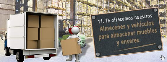 Te ofrecemos nuestros almacenes y vehículos para almacenar muebles y enseres - Reformas Unai Ordoñez