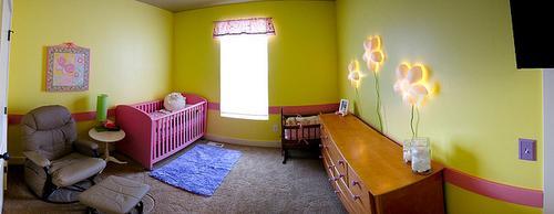 decoración de una habitación de bebé detalles