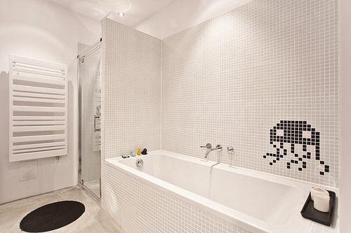 Reformas de baños diseño de pixelado en revestimientos