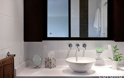 Reformas de baños lavabo en forma de pila