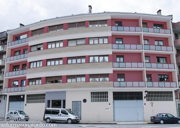 Infografía rehabilitación de la fachada en Amorebieta Bizkaia