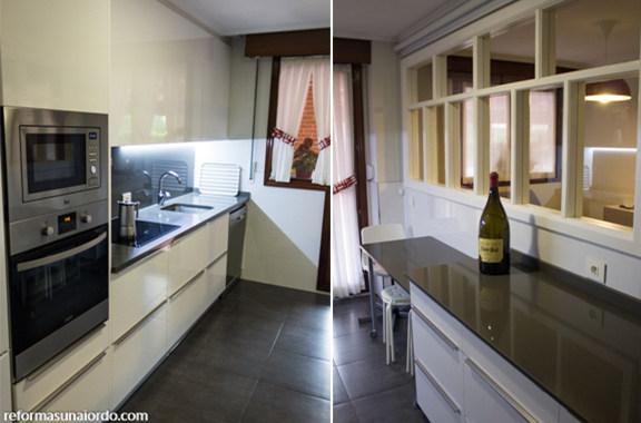 Rehabilitación integral de un piso en Amorebieta. Reforma de la cocina
