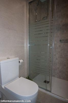 Inodoro en la reforma de un cuarto de baño en Amorebieta
