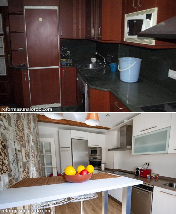 Presupuesto reforma de una cocina en Bilbao antes y despues