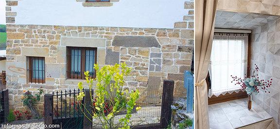Ventana baño reforma de un caserío en abadiano